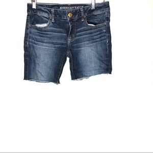 American Eagle super stretch cut off jean shorts